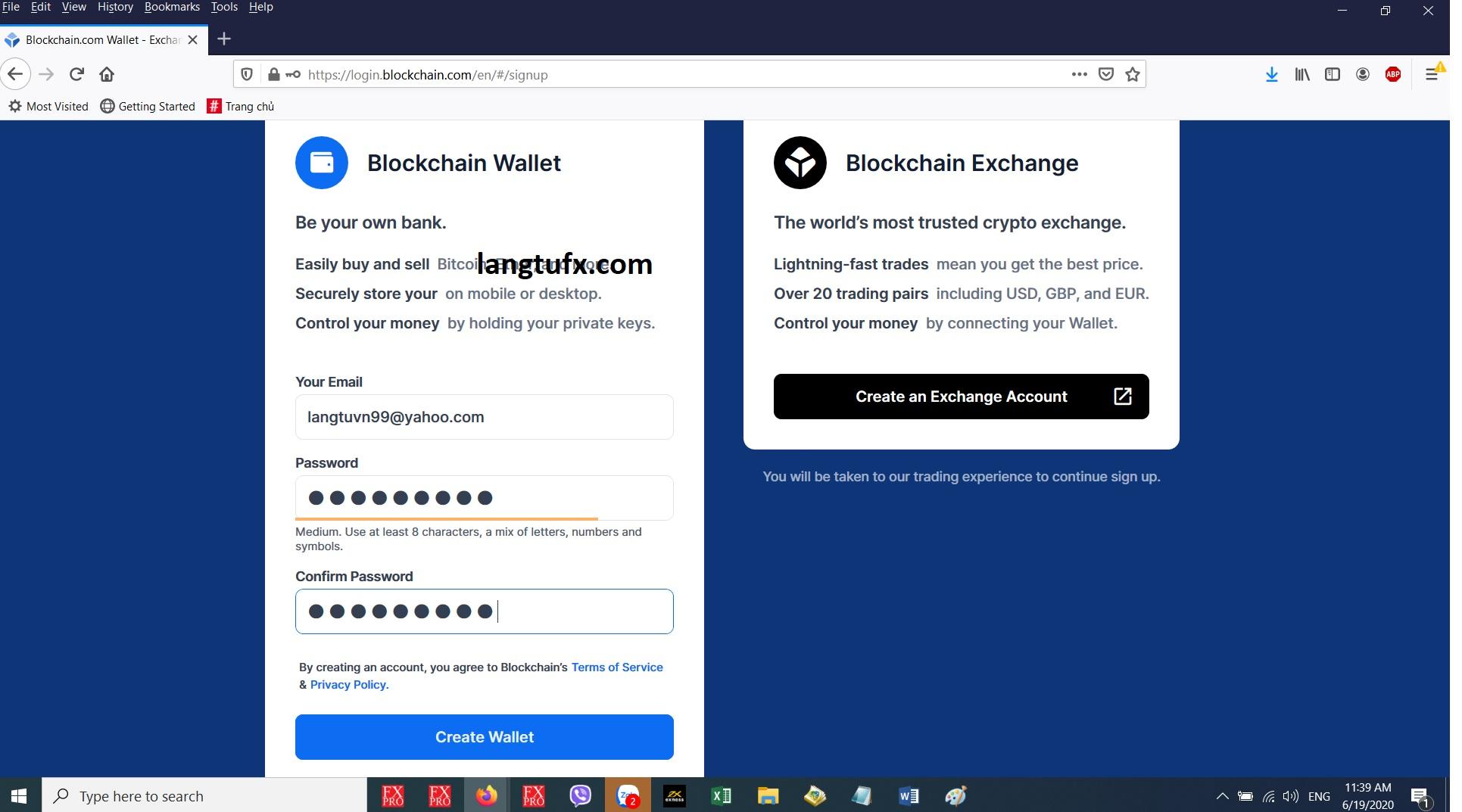 Cách Tạo ví bitcoin - mở tài khoản