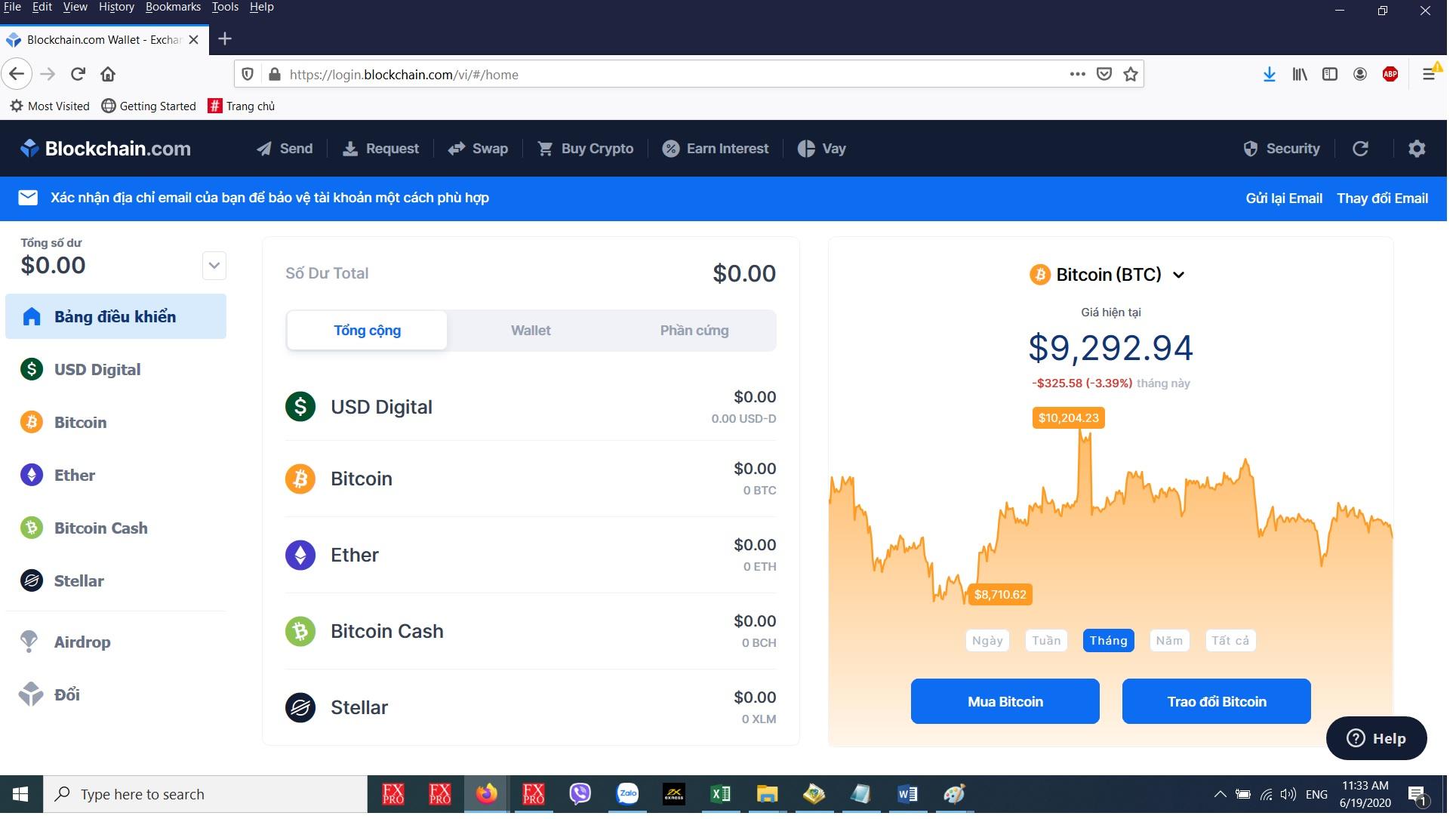 Cách Tạo ví bitcoin - mở tài khoản blockchain.info